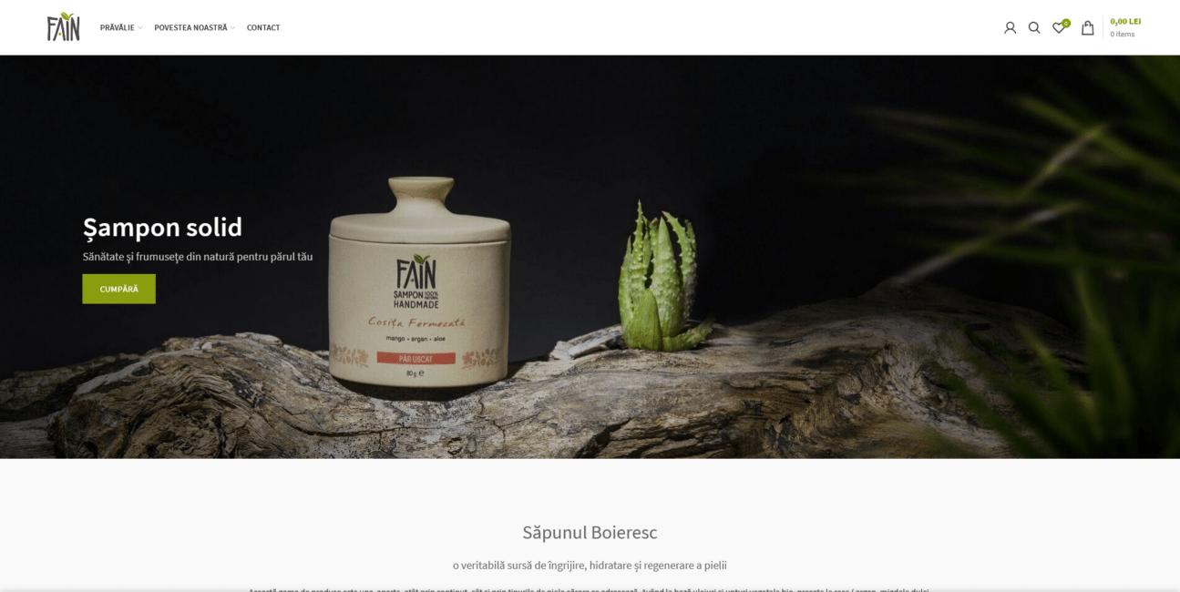 Fain Natural produse cosmetice 100% naturale