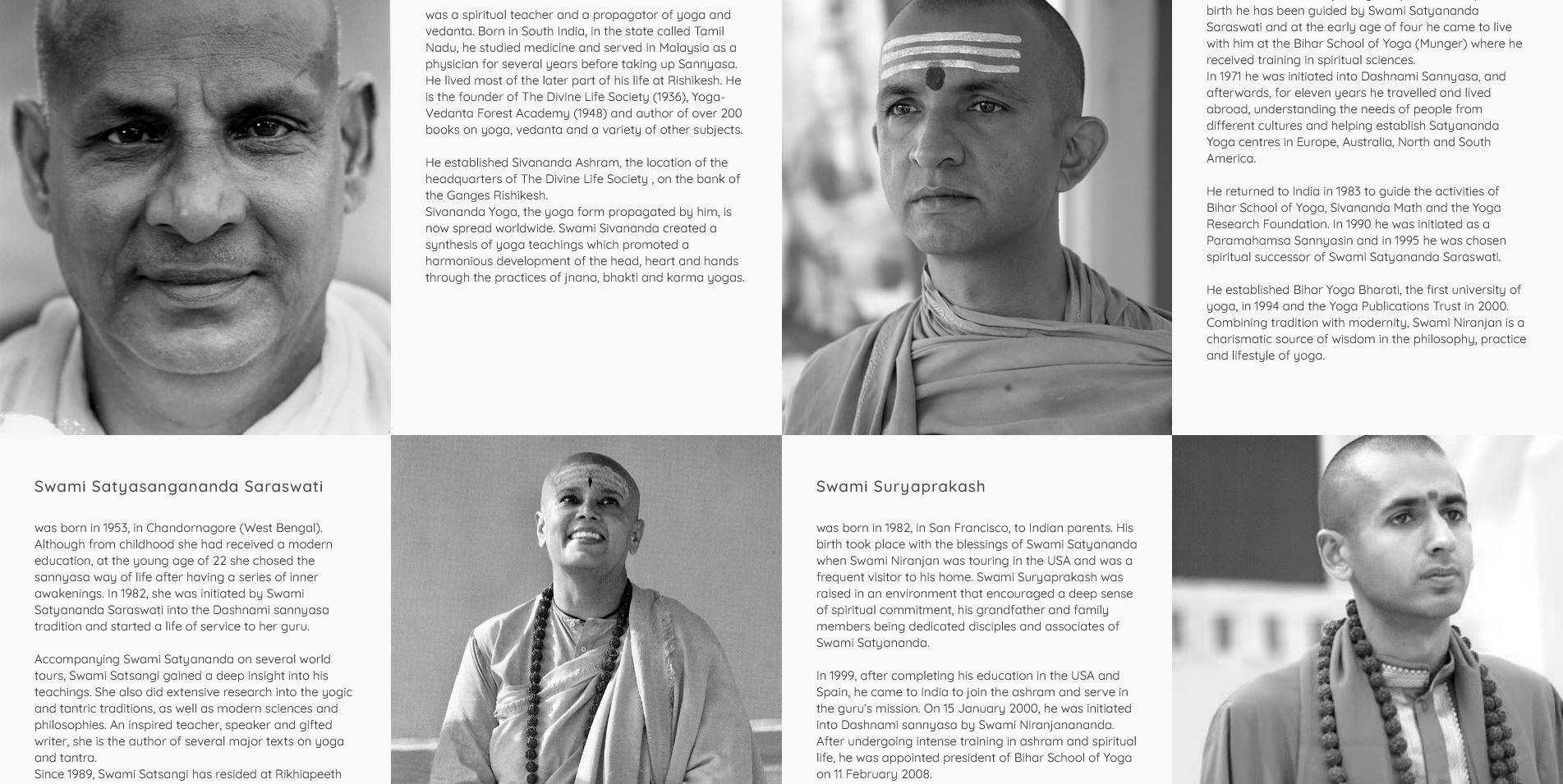 History and teachers Satyananda Yoga 2