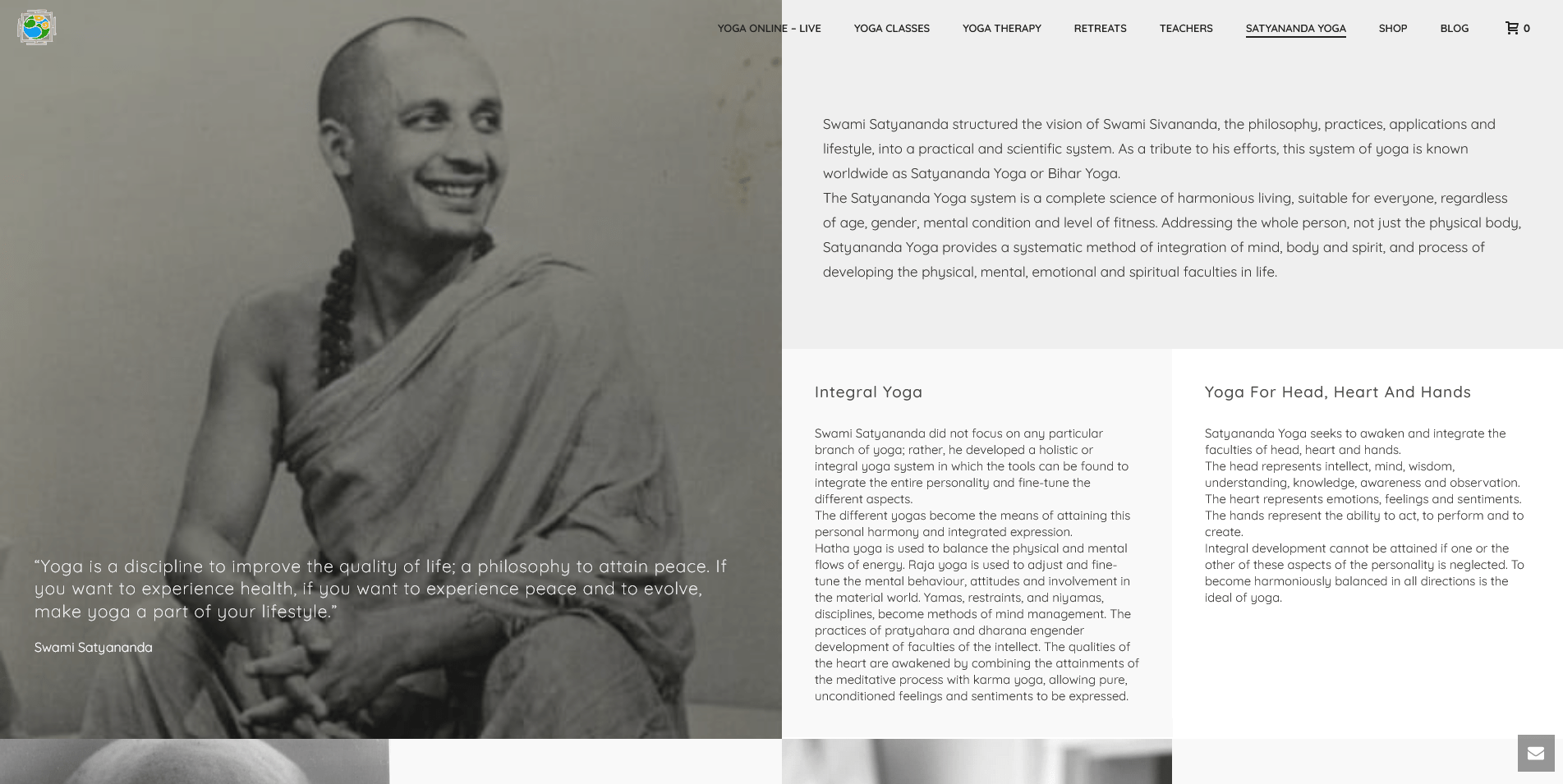 History and teachers Satyananda Yoga