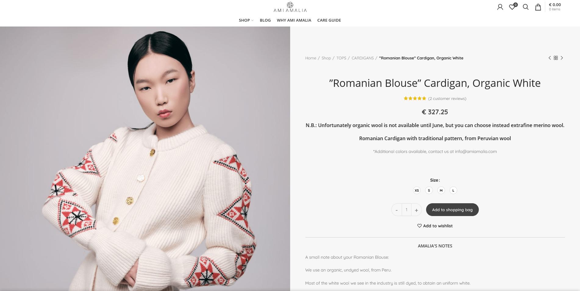 ''Romanian Blouse'' Cardigan, Organic White - Ami Amalia Luxury Knitwear