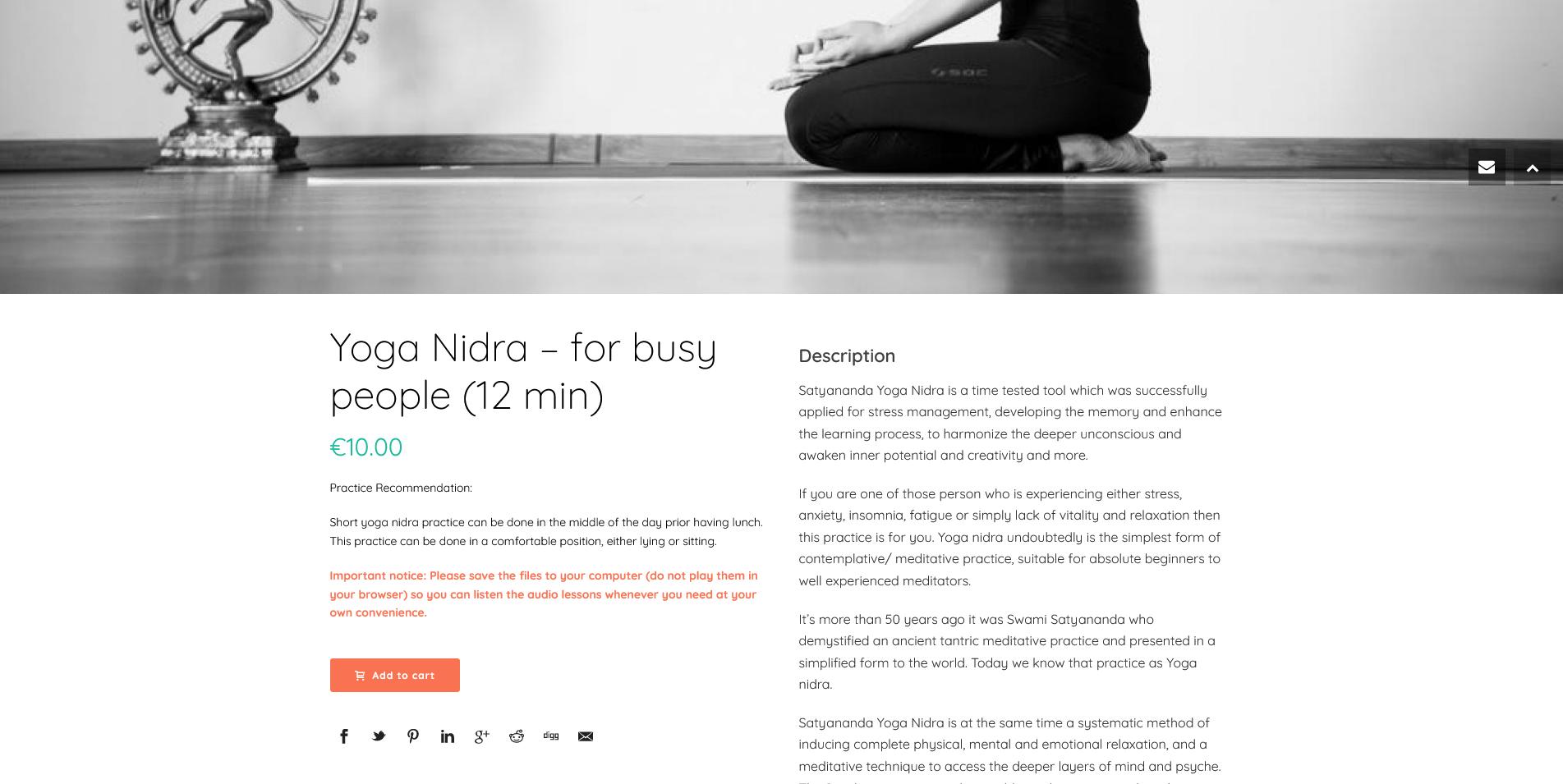 Yoga Nidra - for busy people (12 min) Satyananda Yoga
