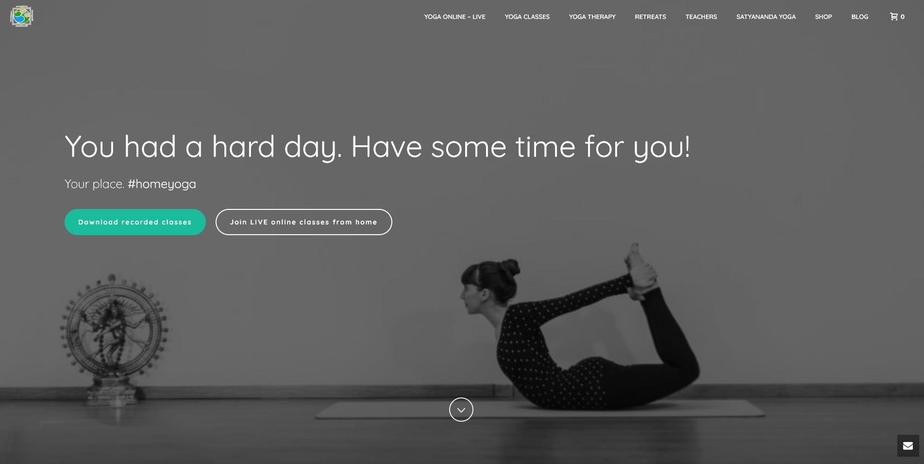your place #homeyoga Satyananda Yoga